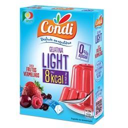 Gelatina light de frutos vermelhos