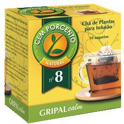 Chá infusão nº8 gripal calm