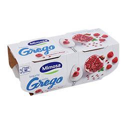 Iogurte grego framboesa/romã