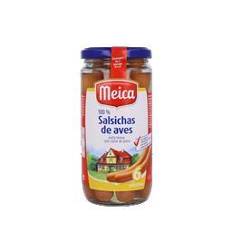 Salsichas de peru em frasco, 6 un