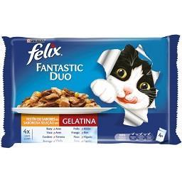 Comida húmida para gato gelatina selecção de vários ...