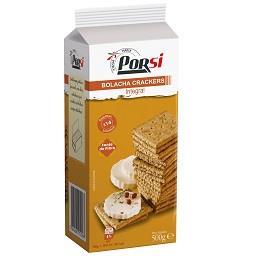 Bolachas crackers integrais