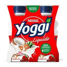 Iogurte líquido Yoggi ananás e coco