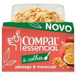 Compal essencial à colher de pêssego e maracujá com ...