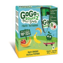 Gogosqueez snack banana 4x90g