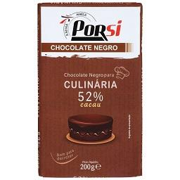 Tablete de chocolate culinário negro
