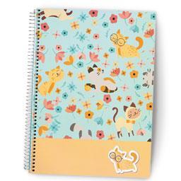 Caderno espiral A4 | 80 folhas | quadriculado