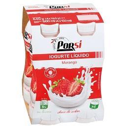 Iogurte líquido morango