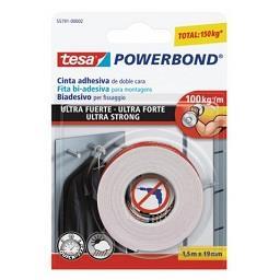 Fita bi-adesiva powerbond ultra-forte blister - 5mx1...