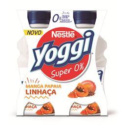 Iogurte liquido yoggi super 0% manga/papaia/linhaça
