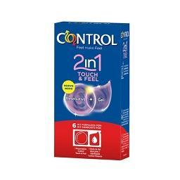 6 Preservativos + Gel Touch & Feel  |2 em 1