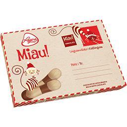 Línguas de Gato Chocolate de Leite e Branco Postal d...