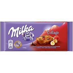 Tablete chocolate collage framboesa