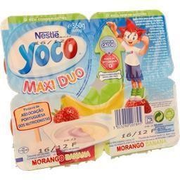 Queijinho yoco suissi maxi de morango e banana