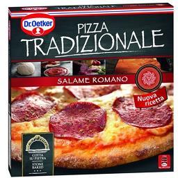 Pizza tradizionale de salame romano