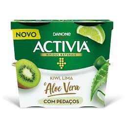 Activia pedaços kiwi/lima/aloe vera