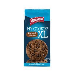 Bolachas cookies XL com pepitas de chocolate e alfar...