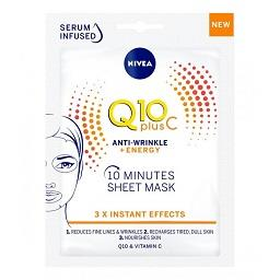 Máscara de tecido anti-Rugas Q10 Plus
