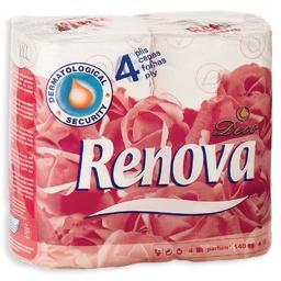 Papel higiénico premium, perfumado, decorado, 4 folh...