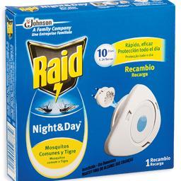 Inseticida eléctrico, recarga, night&day