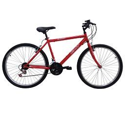 Bicicleta montanha Homem, Vermelha, roda 24, 18 velo...
