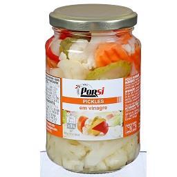 Pickles em vinagre