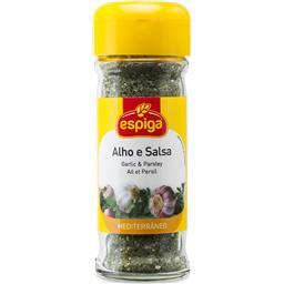 Alho e salsa no frasco