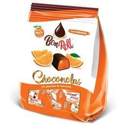 Bombons de chocolate com laranja
