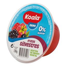 Gelatina de origem vegetal de frutos silvestres 0%