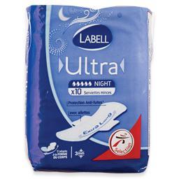Pensos higiénicos ultra, noite, com abas, 10 unidade...