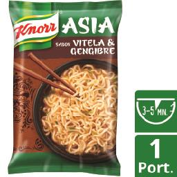 Noodles asia vitela e gengibre