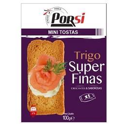 Mini tostas trigo super finas