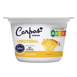 Iogurte corpos danone + proteína ananás