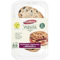 Hamburguers vegetarianos de beringela sem lactose ve...
