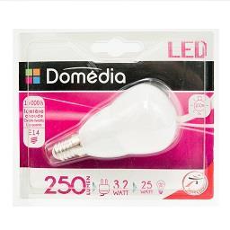 Lâmpada LED Forma Esférica 3.2W E14 220-240V