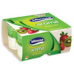 Iogurte aroma a morango/kiwi