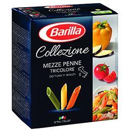 Massa alimentícia penne tricolore