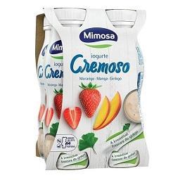 Iogurte líquido morango, manga e ginkgo