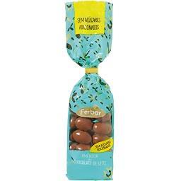 Amêndoas de chocolate de leite sem açúcar