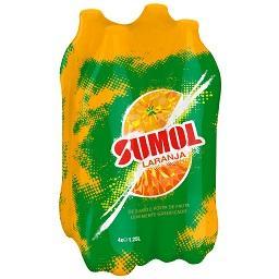 Refrigerante com gás, laranja
