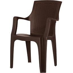 Cadeira Rattan Queen Castanha
