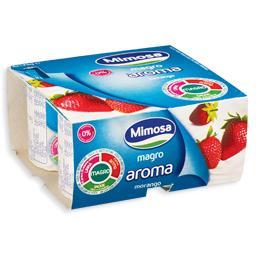 Iogurte magro arôma de morango
