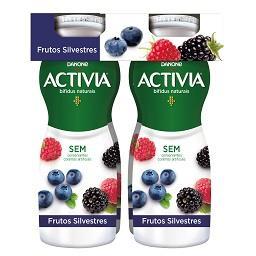 Iogurte activia líquido frutos silvestres