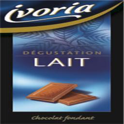 Tablete de chocolate de leite degusta