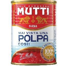 Polpa de tomate finamente triturada em lata