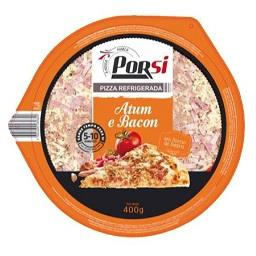 Pizza fresca de atum e bacon