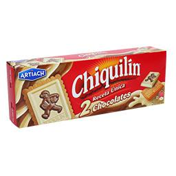 Bolachas chiquilin, com 2 chocolates