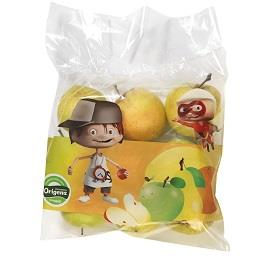 Maçã Golden em saco, Fruta Infantil
