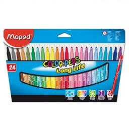 Feltros color peps laváveis, 24 unidades