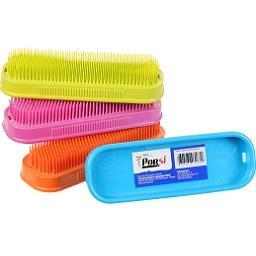 Escova plástica (cores sortidas)